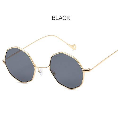CHENGZI Sonnenbrille Frauen Kleiner Rahmen Polygon Klare Linse Sonnenbrille Sonnenbrille Hexagon...