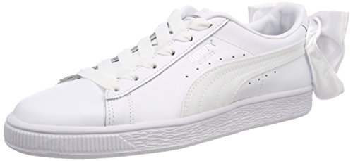 Puma Basket Bow, Sneakers Basses Femme, Blanc White, 38.5 EU