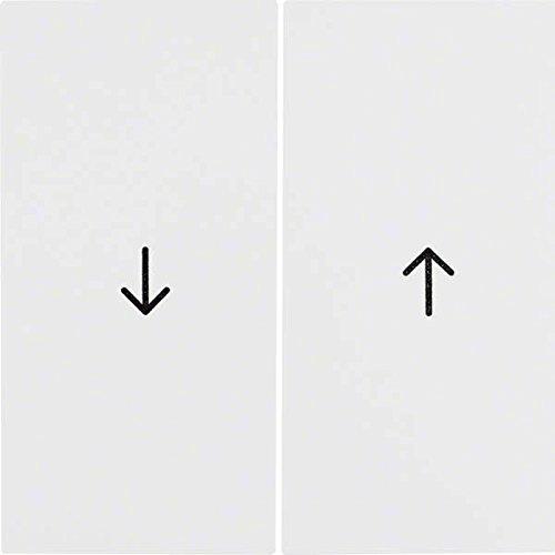 Hager S.1–Dual Taste Pfeile für Rollladen Serie 1Weiß Polar