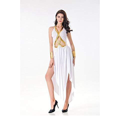 Olydmsky karnevalskostüme Damen Halloween-Kostüm sexy Göttin römische Göttin Maxi Kleid Abschlussball Kostüm (Göttin Römische Halloween-kostüm)