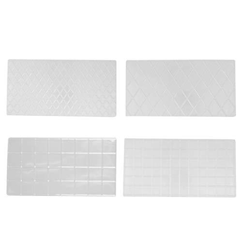 Fornateu 4pcs Kuchen Lattice Printing Mold DIY Kunststoff Transparent Textur Mold Pie Backzutaten Decor