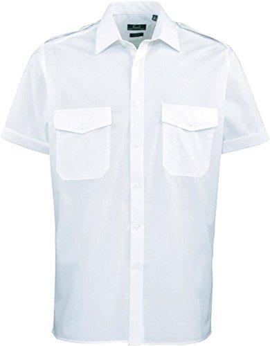 premier-maglietta-a-maniche-corte-da-uomo-da-pilota-epaulette-spalle-formale-di-lavoro