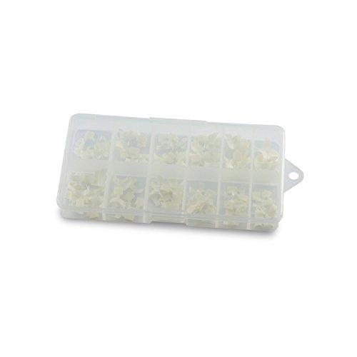 N&BF Quick French White Nagel Tips | Easy Nageltip Set Sortierbox 120 Stück | Profi Nail Extensions mit Smileline flexibel & vielseitig | Kunstnägel Made in EU | in 10 versch. Größen -