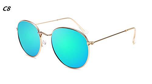 Brillen,Sonnenbrillen,Zubehör,NEW Vintage Oval Small Metal Frame Sunglasses Men Women Brand Designer Sun Glasses Female Eyewear Oculos De Sol C8