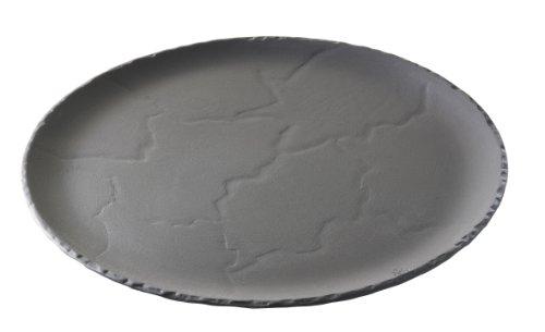 REVOL 641316 Assiette Rond Porcelaine Noir Brut 1,5 cm