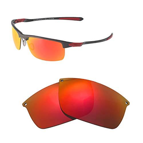 Walleva Ersatzgläser für Oakley Carbon Blade Sonnenbrille - Verschiedene Optionen erhältlich, Unisex-Erwachsene, Fire Red Mirror Coated - Polarized, Einheitsgröße