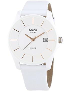Boccia Damen-Armbanduhr Ceramic Analog Quarz Leder 3226-10