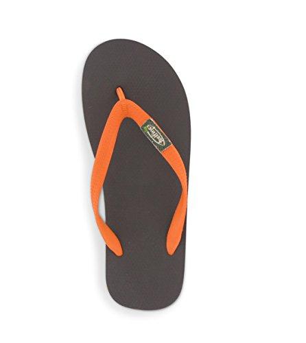 Braun Jungen-flip-flop (Feelfine'z: Amsterdam, braun – orange, 41/42)
