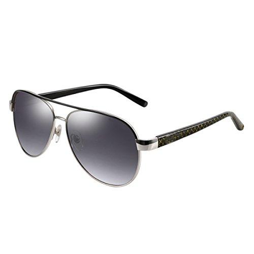 LQQAZY Polarizer Sonnenbrille Herren-Sonnenbrille Sport Fahrerbrille Bunt Trend Sonnenbrille,BlackFrameGraduallyGray