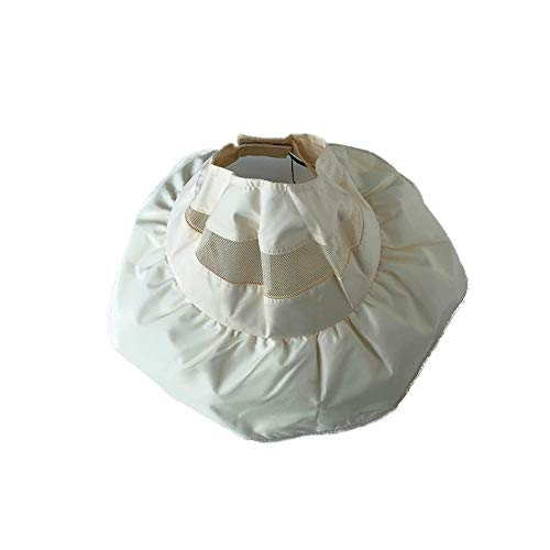 Roll-up Faltbare Hüte Visier UV-Schutz Visier Outdoor Sommer Strandhut Stilvoll (Farbe : Weiß, Größe : Free Size) ()