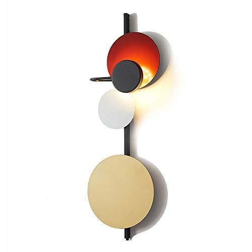SOLUCKY LED Mur lumière Nordique Minimaliste Design Villa café Chic Salon Chaud Chambre à Coucher Chambre de Chevet Lampe Murale (Rouge),B