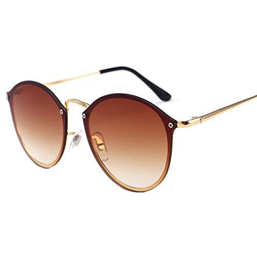 ZRTYJ Modetrend-Art-Sonnenbrille-Weinlese-Marken-Design-Farbspiegel-Sonnenbrille-Frauen