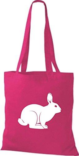 Coniglietto Tote Bag Di Shirtstown, Rammler, Coniglietto Rosa
