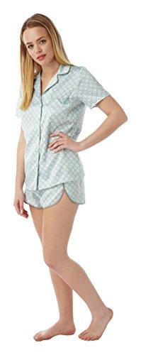 Indigo Sky Damen Schlafanzug Korallenrot