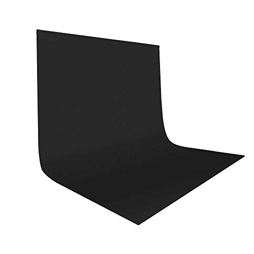 UTEBIT 10 x 12 ft/ 3 x 3.6M Fotostudio Hintergrund Schwarz Faltbare Hintergrundstoff Black Backdrop Background für Hintergrundstand,...