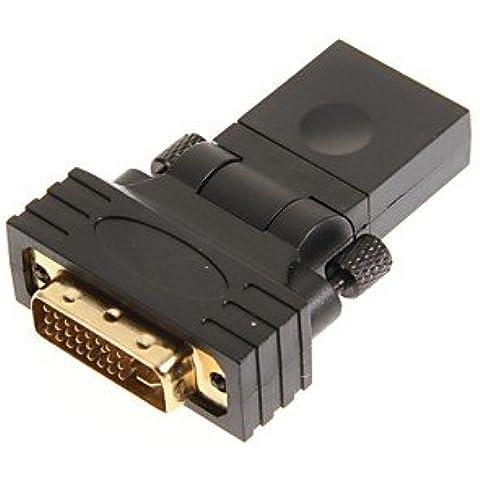 Piteng? giratoria, diseño de cabeza de mujer adaptador de HDMI a DVI