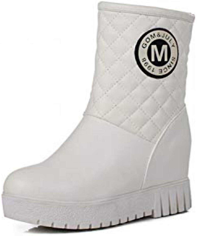 IG Stivali da Donna - - - Stivali Caldi Antiscivolo Invernali Stivali da Neve Alti Interni Stivali di Cotone a Fondo... | Up-to-date Stile  | Gentiluomo/Signora Scarpa  f0b31e