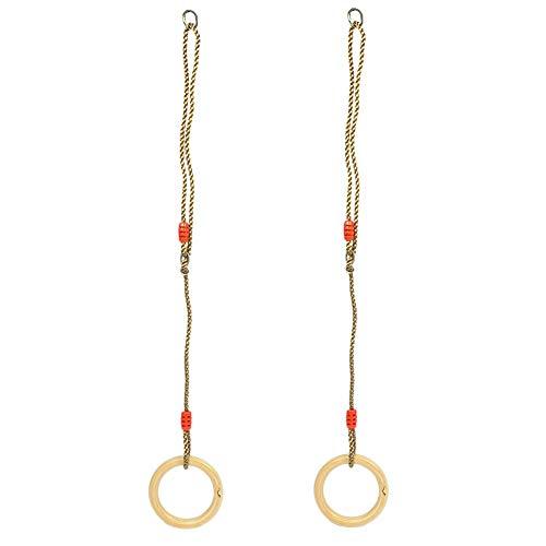 Alomejor Kinder Turnhalle Ringe Kinder Holz Schaukel Ringe für Kinder Jungen Mädchen Klettergerüste und Schaukeln