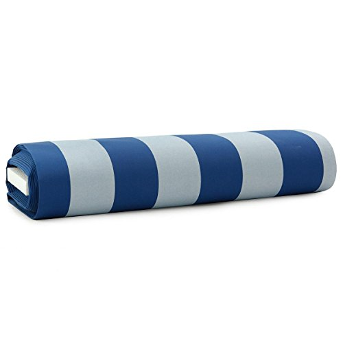 CARILLO Tessuto per tende da sole al metro Righe 140 cm trattamento impermeabile M974 BLU