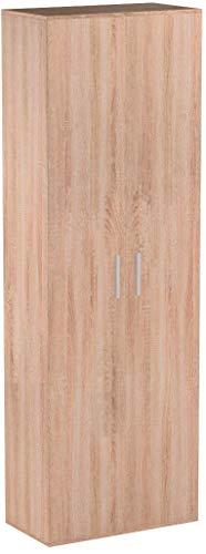 mokebo® Mehrzweckschrank \'Der Lange\', moderner Aktenschrank oder Schrank, Made in Germany & klimaneutraler Versand, Sonoma Eiche -69