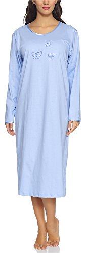 Merry style camicia da notte donna 91lw1(blu(manica lunga), xxl)
