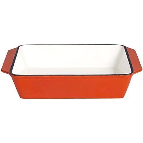 Casseruola e piatto gratin, ghisa, 25 x 25 cm, arancione