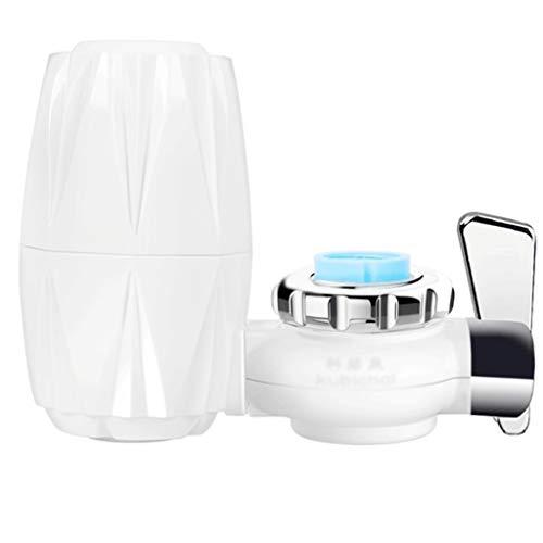 ROMA LT Faucet Filte r purificatore d\'Acqua per Uso Domestico HBF-8911 Rubinetto depuratore d\'Acqua di Rubinetto Filtro per l\'acqua Cucina Filtro Acqua depuratore decalcificante Filtro ceramico,White