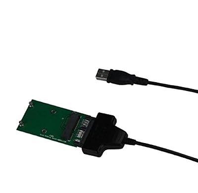Elyseesen Mini PCIe mSATA 5CM SSD à Micro SATA ou Carte Adaptateur USB par Elyseesen