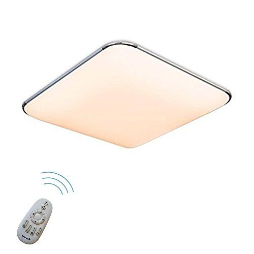 SAILUN 24W Dimmbar Ultraslim LED Deckenleuchte Modern Deckenlampe Flur Wohnzimmer Lampe Schlafzimmer Küche Energie Sparen Licht Wandleuchte Farbe Silber (24W Silber Dimmbar)