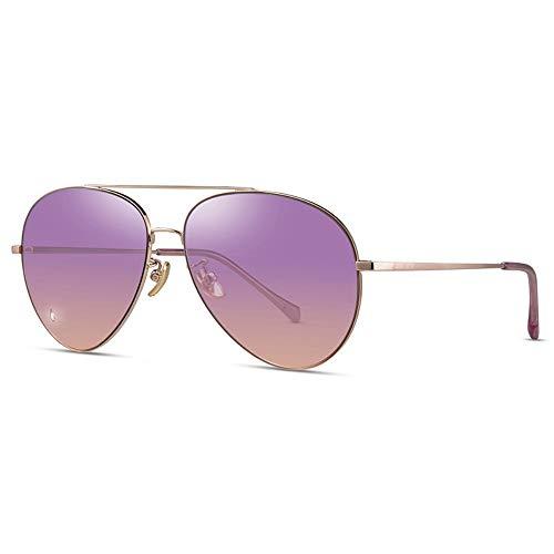 FSJCB Gafas De Sol Anti-Uv-Sonnenbrillen Männliche Pilotenbrillen Rundes Gesicht Der Frau Anti-Uv-A