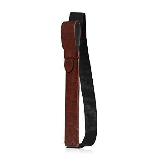 Fintie Halter mit USB-Adapter-Tasche für Apple Pencil (1. / 2. Generation) - Premium Kunstleder Hülle kompatibel mit Apple iPad Pro 11/12,9/10,5/9,7 & iPad 2018 (6. Gen) Schutzhüllen, Braun