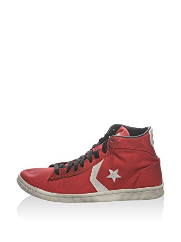 Converse Hightop Pro Leather Lp Mid Baskets Textile Rouge
