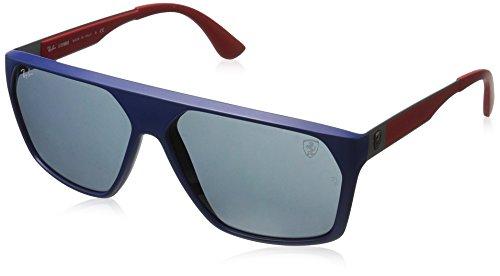 Ray-Ban Junior Herren 0RB4309M F60487 61 Sonnenbrille, Matte Dark Blue/Darkgrey,