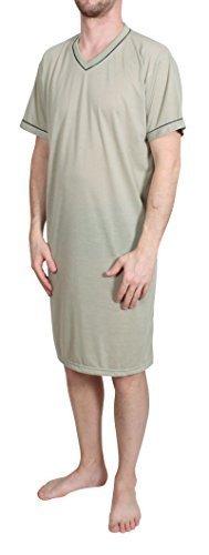 Homme Chemise de Nuit Courte Unicolore Pyjamas Chemise DE Nuit Lingerie DE Nuit Coton Taille: L XL XXL XXXL Classics