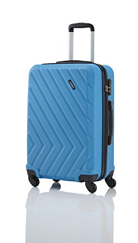 7284820 Travelite QUICK Trolley 4 Ro.64 cm Fb. blau