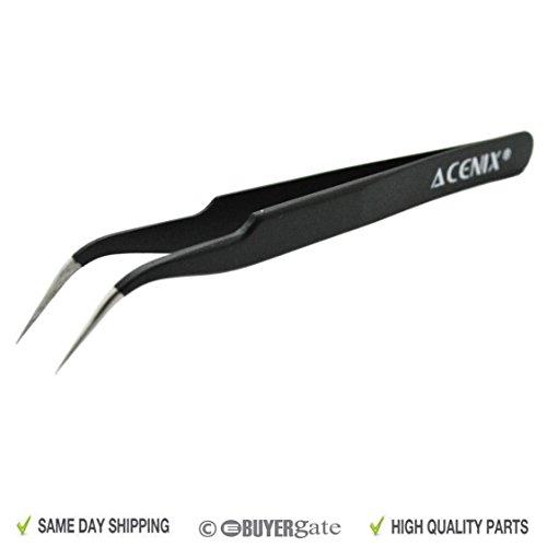 Preisvergleich Produktbild ACENIX® Professionelle Reparatur-Pinzette, antimagnetischer Edelstahl, mit gebogener Spitze