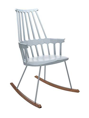 Kartell Comback Sessel, Plastik, grau, 59 x 99 x 58 cm