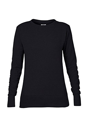 Maglione Pullover Donna French Terry Sweatshirt Waisted Black