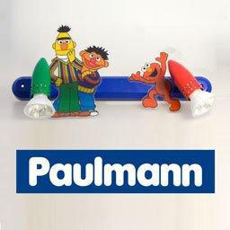 PAULMANN Kinderleuchte Sesamstraße (2x50W, 230V) Kinderzimmer/Wandlampe/Nachtlicht mit Comic-Motiv von PAULMANN bei Lampenhans.de