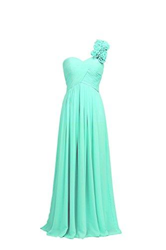 YiYaDawn -  Vestito  - Monospalla - Donna verde menta