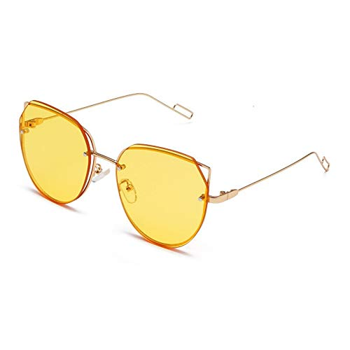 ACKCC Fashion Classic Men Cat Eye Rahmenlose Sonnenbrille Retro Women Metal Big Frame Sonnenbrille Gradient Eyewear Frames UV400