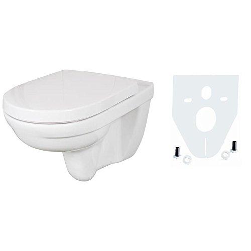 Villeroy & Boch O Novo Wand WC Tiefspüler OHNE spülrand weiß mit Sitz mit softclose und Schallschutz