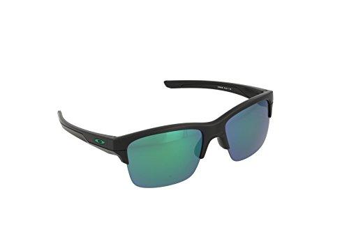 Oakley Herren Sonnenbrille Thinlink, Schwarz (Matte Black/Jadeiridium), 63