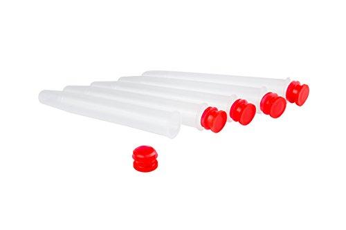 Weedness 5 x Joint-Hüllen 11 cm Rot für King Size Long Paper - Joint Aufbewahrung Wasserdicht Joint Hülle Geruchsdicht Joint Case