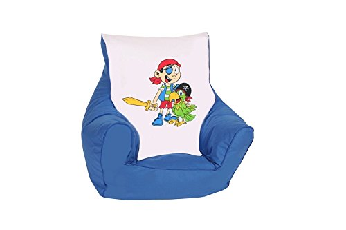 "knorr-baby 450306 Kinder Sitzsack\""Pirat\"", blau"