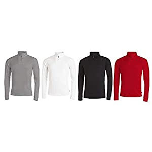 Medico Herren Ski Shirt, 100%Baumwolle, langarm, Rollkragen, Reißverschluss
