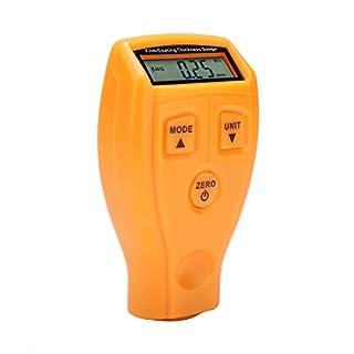 Mini Lackdickenmessgerät Professionelle Digitale Beschichtung Meter Gauge LCD Display Farbe Messen Tester Werkzeug Instrumente GM200 / GM200A(Gelb)