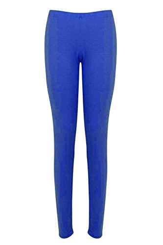 Damen Schlicht Einfach Hosen Damen Knöchellang Stretch Leggings Jeggings Königsblau