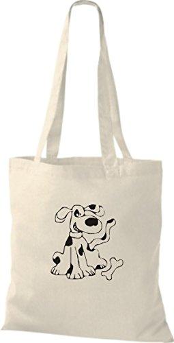 ShirtInStyle Stoffbeutel Hunde Motive Rasse Hund Lustige Tiere Züchter diverse Farbe natural