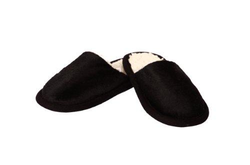 Chaussons aspect Panthère, 100% polyester, couleur Panthère noir